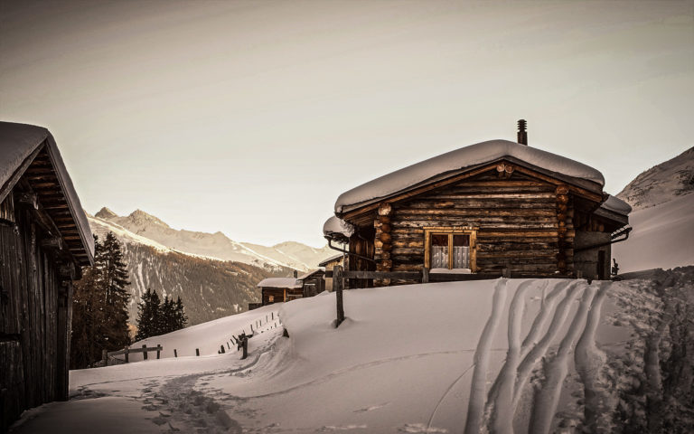 chalet neige montagne